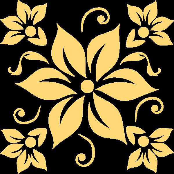 花纹装饰手绘创意黑白贴纸素材