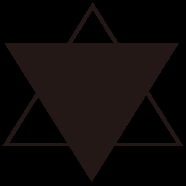 六芒星星星闪烁几何组合创意贴纸素材