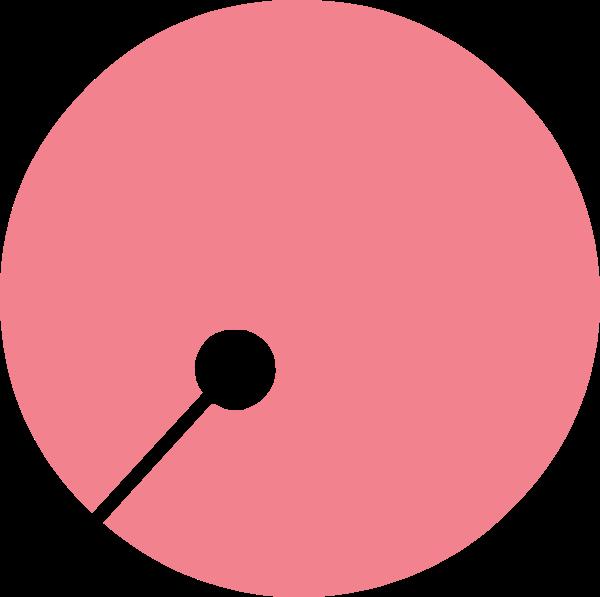 圆形少女粉色装饰铃铛贴纸素材