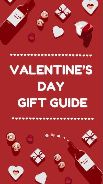 情人节礼物指南海报设计模板素材