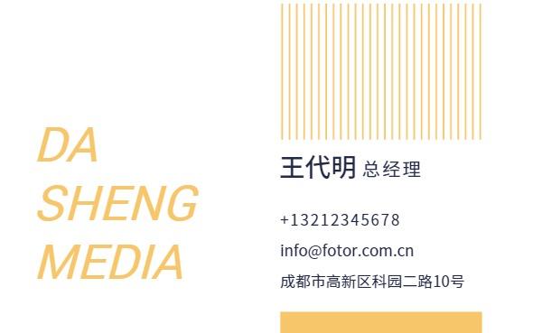 大升文化傳媒總經理名片設計模板素材