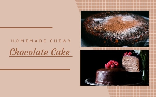 美食博主手作蛋糕视频封面