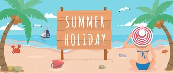 夏日海边度假公众号封面大图