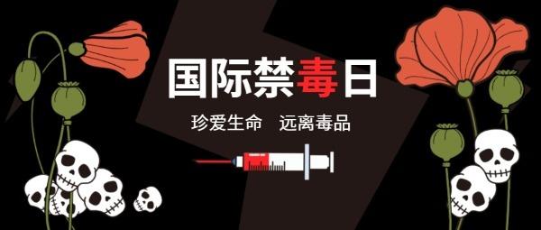 国际禁毒日公众号封面大图