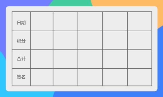 積分兌換卡名片設計模板素材
