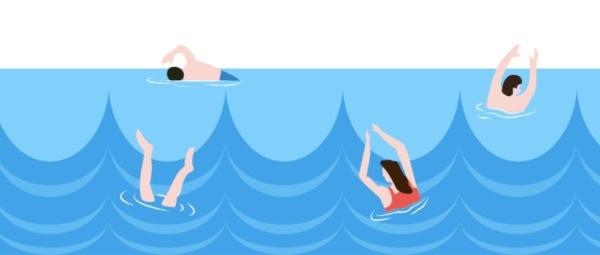 游泳公众号封面设计模板素材