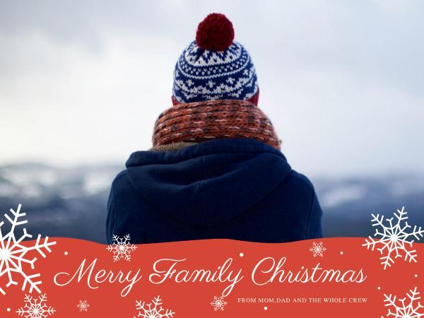 圣诞节快乐白色简约贺卡设计模板素材