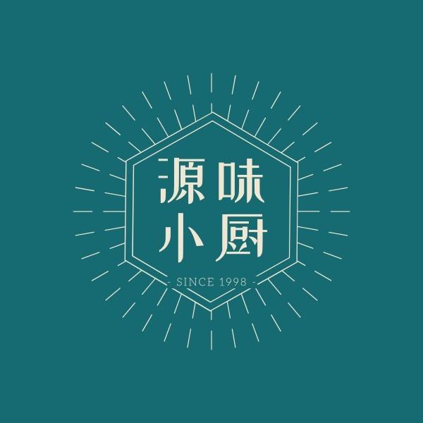 餐饮美食私房菜复古插画中国风Logo模板