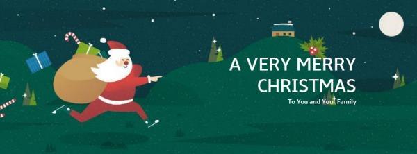 绿色圣诞主题封面