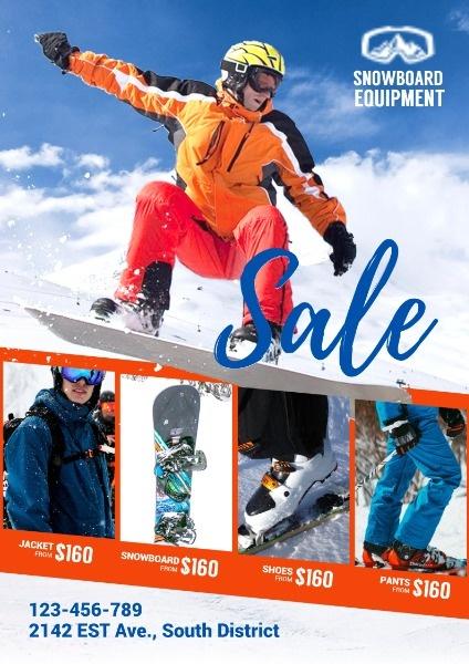 滑雪器械英文海报