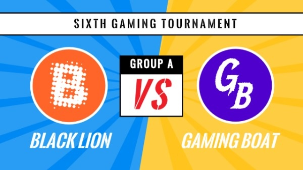 Blue And Yellow Gaming Tournament