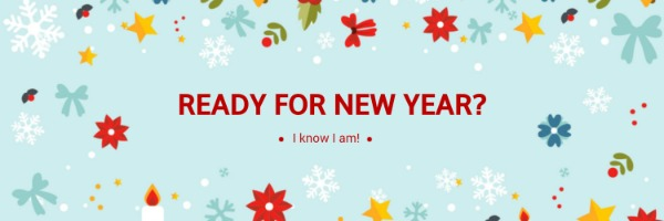 蓝色新年主题封面