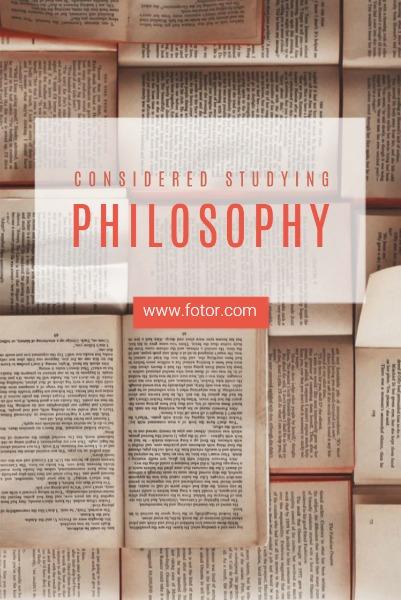 黄色创意哲理主题海报
