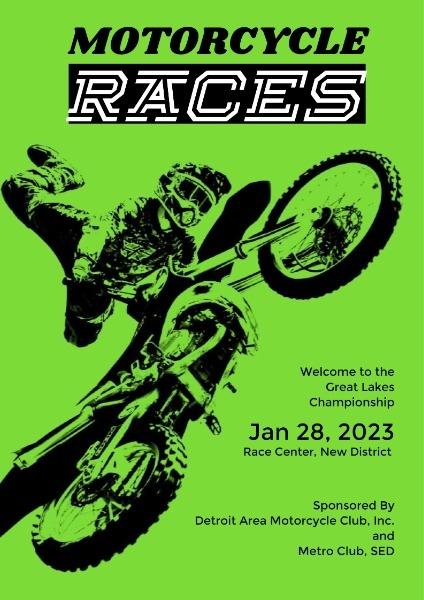 Green Motorcycle Racing Game