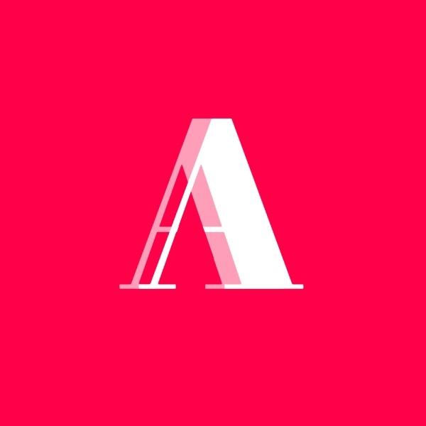 红色简约几何商店图标