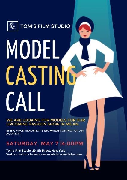女性模特角色试镜演艺工作室