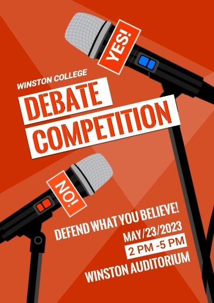 辩论比赛英文海报