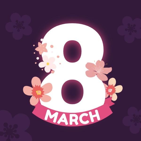 白色粉色38女神节