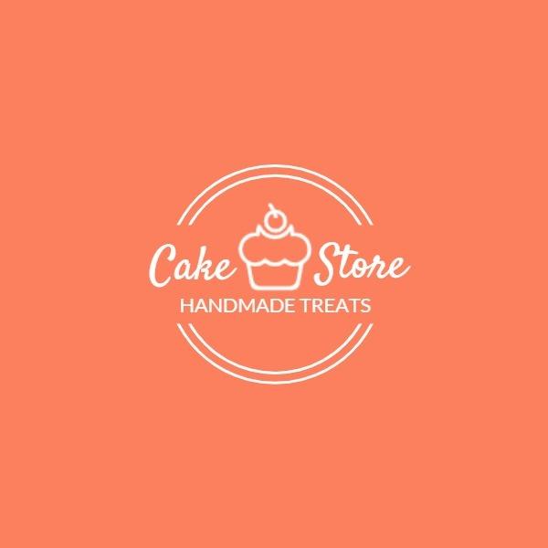 橙色蛋糕烘焙甜品店