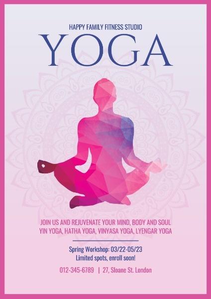 瑜伽课宣传海报