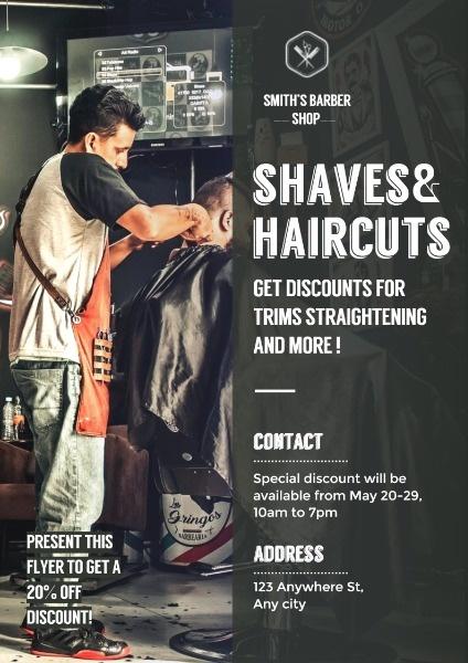 男士理发店优惠活动