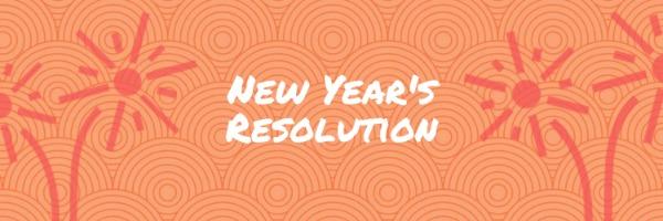 橙色新年主题封面