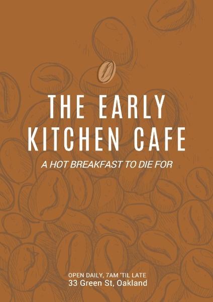 咖啡馆推广折扣咖啡色