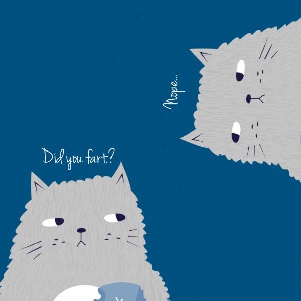 蓝色卡通海报