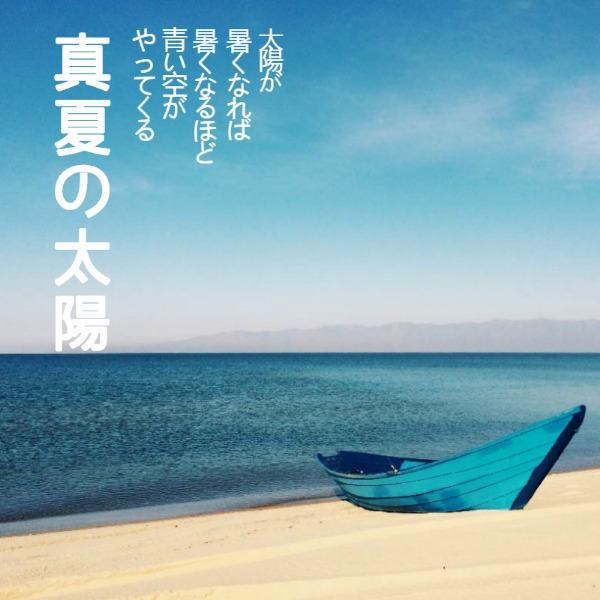 蓝色简约夏日帖子