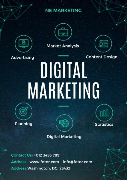 蓝色科技感电子营销设计公司