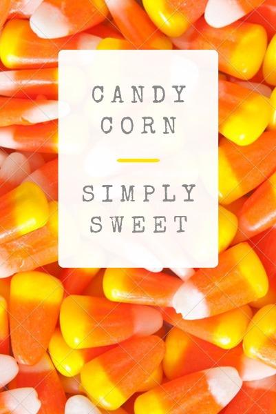 橙色简约糖果主题海报