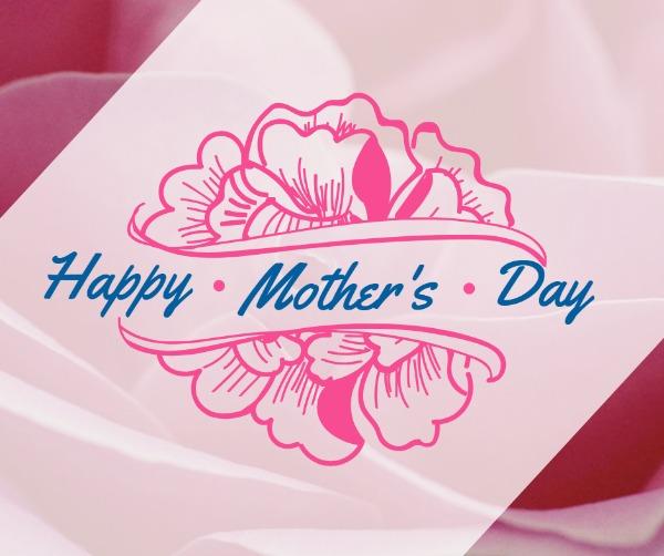 粉色手绘母亲节贺卡