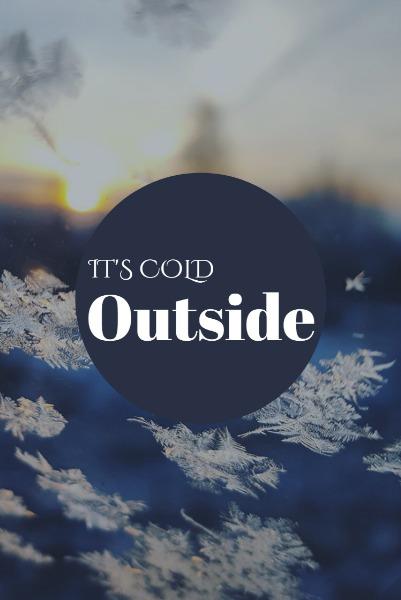 蓝色浪漫冬季主题海报