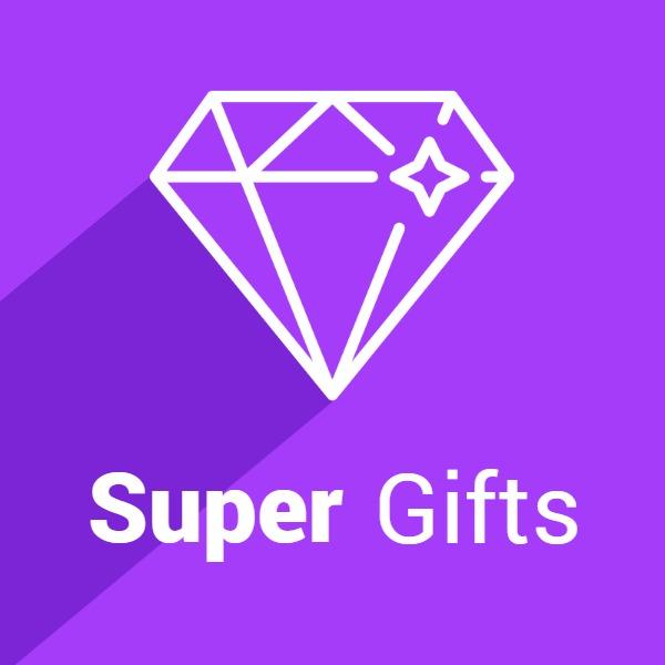 紫色简约礼物商店图标