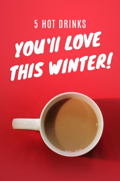红色冬季咖啡餐饮主题海报