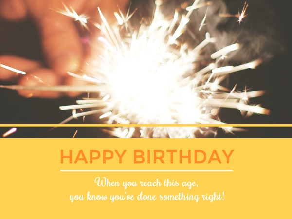 生日快乐祝福烟花白色简约