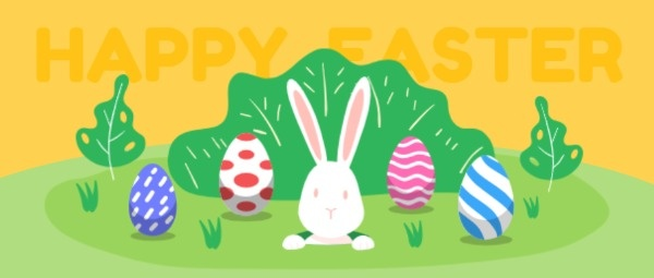复活节快乐可爱兔子
