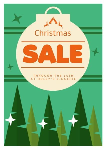 圣诞节促销宣传浅绿色手绘