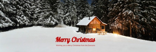 白色雪景圣诞节封面