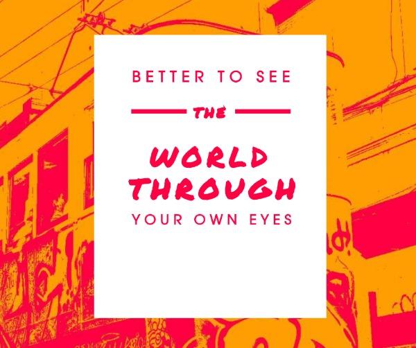 橙色旅游标语主题海报