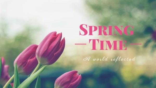 绿色春季时光主题封面