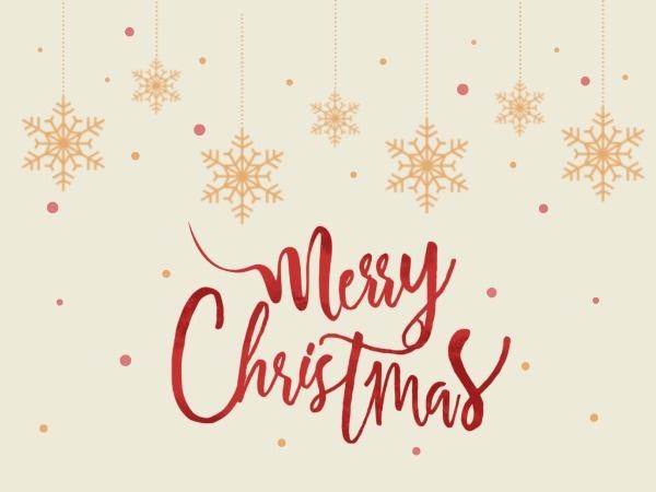 圣誕節平安夜祝福雪花質感插畫黃色