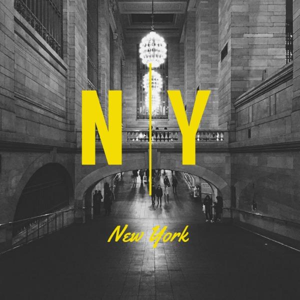 灰色纽约街头摄影主题海报