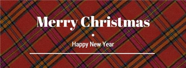 红色圣诞新年主题封面