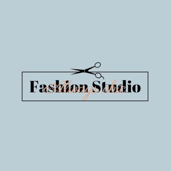 灰色简约艺术工作室商店图标