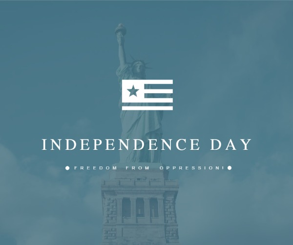 蓝色美国独立日主题海报