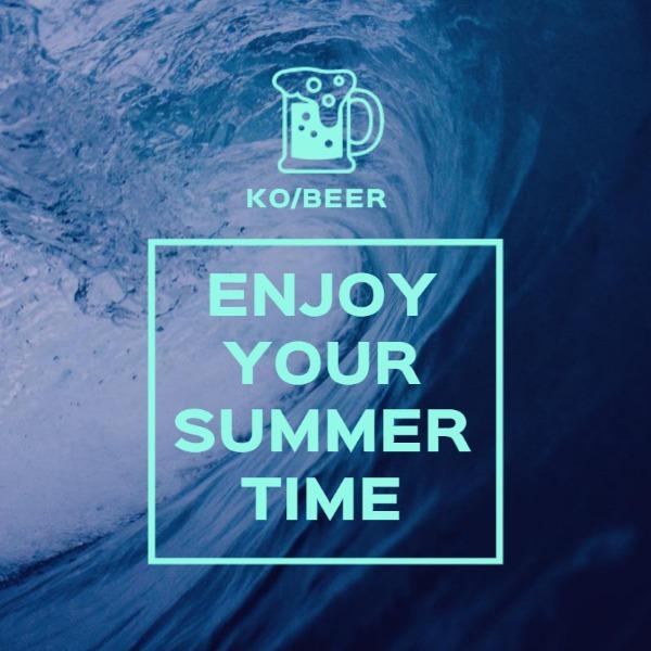 蓝色夏季清凉主题海报
