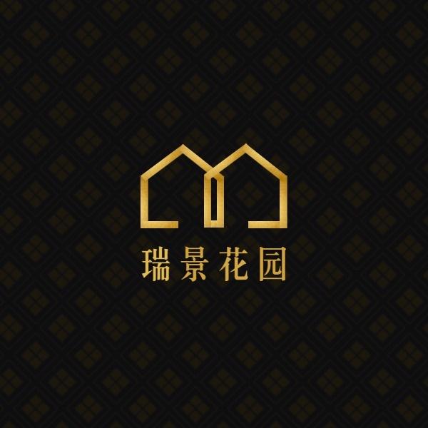 房企房地产建筑楼盘黑色金色