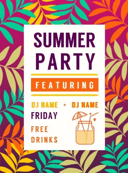 夏季饮品宣传