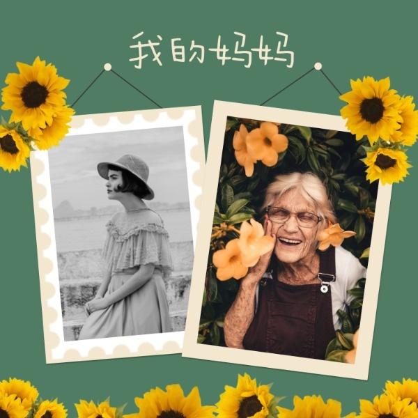 绿色复古妈妈的相册